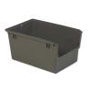 """23.5"""" L x 15.6"""" W x 12"""" Hgt. Gray Heavy Duty Nesting Shelf Bin without Bail"""