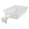 "12-1/8"" x 8-1/4"" x 3"" Tamco® Tray with Flow Spigot"