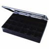 "Black Conductive 24 Compartment Box - 12-3/4"" L x 8-1/2 W x 2-1/8 H"