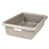 "12-1/8"" L x 8-1/4"" W x 3"" Hgt. Light Gray Polyethylene Tamco® Tote Pan"