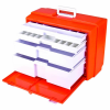 """Orange & White 4-Drawer Medical Cabinet - 19-1/2"""" L x 10-3/8"""" W x 15"""" Hgt."""