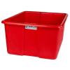 "30"" L x 20"" W x 15"" H Red Polyethylene Tamco® Jumbo Tote Pan"