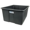 "24"" L x 20"" W x 12"" H Slate Gray Polyethylene Tamco® Jumbo Tote Pan"