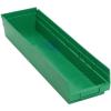 "23-5/8"" L x 6-5/8"" W x 4"" Hgt. Green Quantum® Economy Shelf Bin"