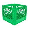 Green Vented Dairy Crate