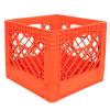 Orange Vented Dairy Crate