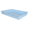 "25-3/4"" L x 18"" W x 3-11/16"" Hgt. Blue Tray with Handles (Lid & Template Sold Separately)"