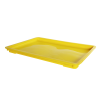 "24"" L x 16"" W x 1-1/2"" Hgt. Yellow Dough Tray Lid"