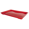 "24"" L x 16"" W x 1-1/2"" Hgt. Red Dough Tray Lid"