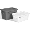 "Gray 14 Gallon Rubbermaid® Brute® Tote w/Lid 27-7/8""L x 17-3/8""W x 10-11/16""H"