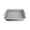 "Gray Self-Draining Pan 20-1/4"" L x 15-1/4"" W x 5"" Hgt. with 1/4"" Holes"