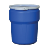 10 Gallon Blue Open Head Poly Drum with Plastic Lever-Lock Ring