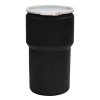 14 Gallon Black Open Head Poly Drum with Plastic Lever-Lock Ring