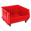 "Red Quantum® HULK Mobile Bin - 23-7/8"" L x 22-1/2"" W x 12"" Hgt."