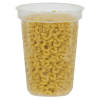 32 oz. Clarified Quad In-Mold Container (Lid Sold Separately)