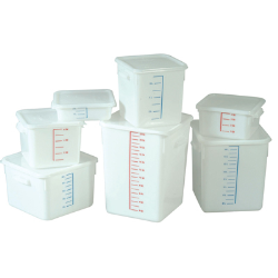 Rubbermaid® White Square Containers & Lids