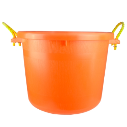 70 Quart Multi-Purpose Bucket - Tangerine Orange