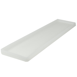 "26-1/2"" L x 6-3/8"" W x 1-1/4"" H Natural Tamco® Tray"