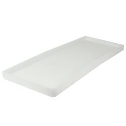"26-1/4"" L x 10"" W x 1-1/4"" H Natural Tamco® Tray"