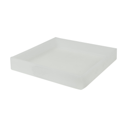 "10-3/8"" L x 10-3/8"" W x 1-1/2"" H Natural Tamco® Tray"