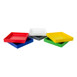 "12"" L x 12"" W x 3"" H Yellow Tamco® Tray"