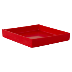 "10-3/8"" L x 10-3/8"" W x 1-1/2"" H Red Tamco® Tray"