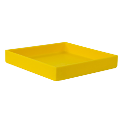 "10-3/8"" L x 10-3/8"" W x 1-1/2"" H Yellow Tamco® Tray"