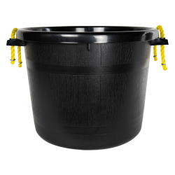 70 Quart Black Multi-Purpose Bucket