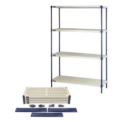 Quantum® Wire Plastic Mat Shelving Units