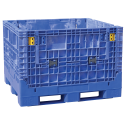 "48"" x 45"" x 34"" Blue Extra-Duty Collapsible Bulk Container"