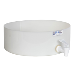"12"" Dia. x 4"" Hgt. Tamco® HDPE Fabricated Round Tray with Spigot (Cover Sold Separately)"