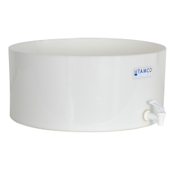 "18"" Dia. x 8"" Hgt. Tamco® HDPE Fabricated Round Tray with Spigot (Cover Sold Separately)"