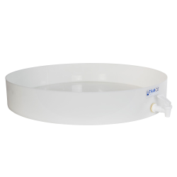 "24"" Dia. x 4"" Hgt. Tamco® HDPE Fabricated Round Tray with Spigot (Cover Sold Separately)"