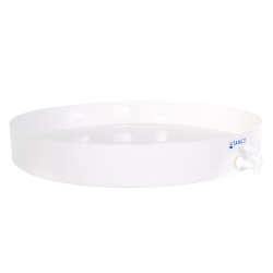 "30"" Dia. x 4"" H Tamco® HDPE Fabricated Round Tray with Spigot (Cover Sold Separately)"