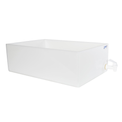 "12"" L x 18"" W x 6"" Hgt. Tamco® HDPE Fabricated Tray with Spigot (Cover Sold Separately)"