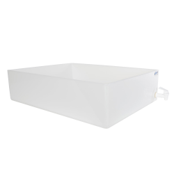 "18"" L x 24"" W x 6"" H Tamco® HDPE Fabricated Tray with Spigot (Cover Sold Separately)"