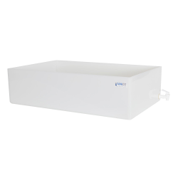 "18"" L x 30"" W x 8"" H Tamco® HDPE Fabricated Tray with Spigot (Cover Sold Separately)"