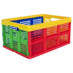 Multi Color Vented Folding Crate - 19