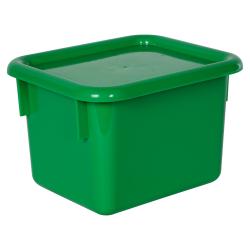 """Green Half Stowaway® Box with Lid - 6-3/5"""" L x 8"""" W x 5-1/2"""" Hgt."""