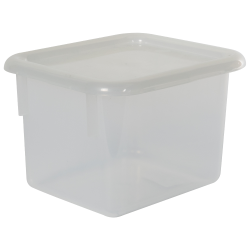 "Clear Half Stowaway® Box with Lid - 6-3/5"" L x 8"" W x 5-1/2"" Hgt."