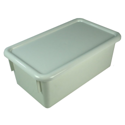 "White Stowaway® Box with Lid - 8"" L X 13-1/2"" W X 5-1/2"" Hgt."