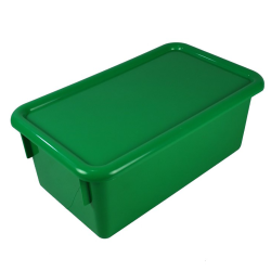 "Green Stowaway® Box with Lid - 8"" L X 13-1/2"" W X 5-1/2"" H"