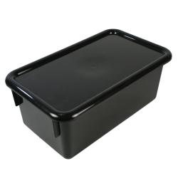 """Black Stowaway® Box with Lid - 8"""" L X 13-1/2"""" W X 5-1/2"""" Hgt."""