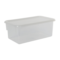 "Clear Stowaway® Box with Lid - 8"" L X 13-1/2"" W X 5-1/2"" Hgt."