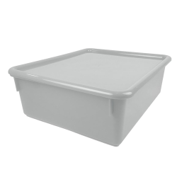 "White Double Stowaway® Box with Lid - 13-1/2"" L x 16"" W x 5-1/2"" H"
