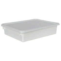 "White Stowaway® Letter Box with Lid - 13-1/2"" L x 10-1/2"" W x 3"" Hgt."