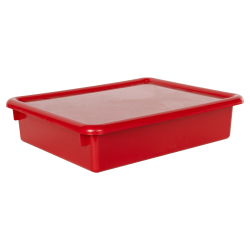 "Red Stowaway® Letter Box with Lid - 13-1/2"" L x 10-1/2"" W x 3"" Hgt."