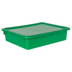 "Green Stowaway® Letter Box with Lid - 13-1/2"" L x 10-1/2"" W x 3"" Hgt."