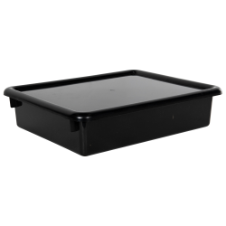 "Black Stowaway® Letter Box with Lid - 13-1/2"" L x 10-1/2"" W x 3"" Hgt."