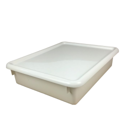 """White Stowaway® Letter Box with Lid - 13-1/2"""" L x 10-1/2"""" W x 6"""" H"""